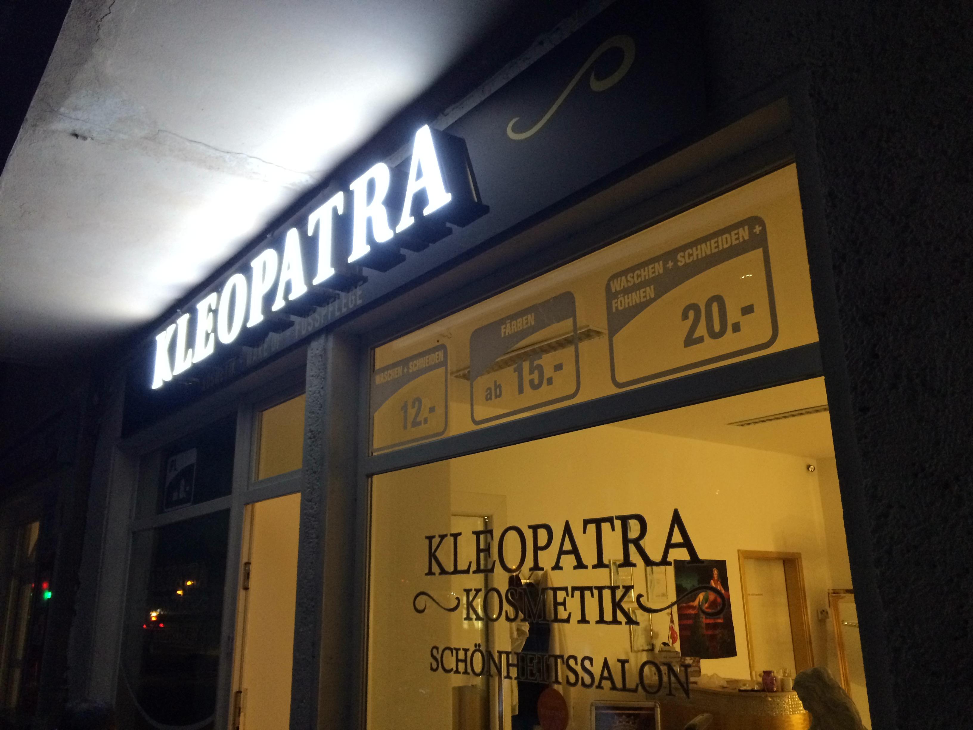 kleopatra Kosmetik Berlin Außenwerbung